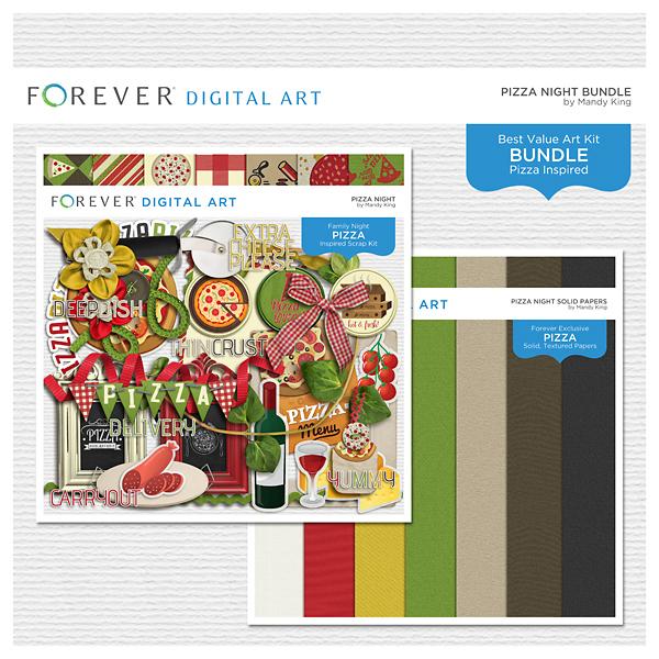 Pizza Night Bundle Digital Art - Digital Scrapbooking Kits