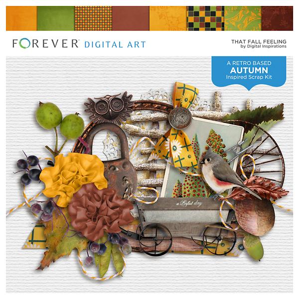 That Fall Feeling Digital Art - Digital Scrapbooking Kits