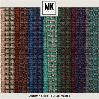 Autumn Skies - Burlap Mattes Digital Art - Digital Scrapbooking Kits