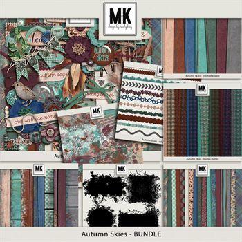 Autumn Skies - Discounted Bundle Digital Art - Digital Scrapbooking Kits