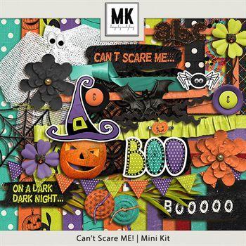Can't Scare Me - Mini Kit Digital Art - Digital Scrapbooking Kits