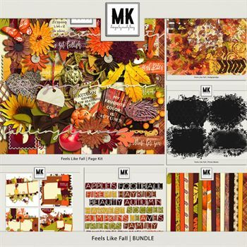Feels Like Fall - Discounted Bundle Digital Art - Digital Scrapbooking Kits