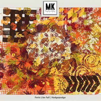Feels Like Fall - Hodgepodge Digital Art - Digital Scrapbooking Kits