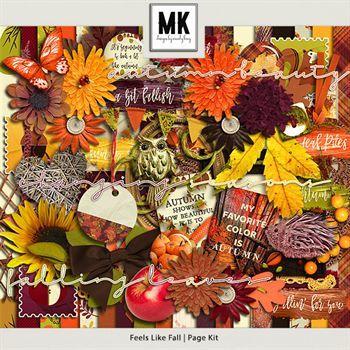 Feels Like Fall - Page Kit Digital Art - Digital Scrapbooking Kits