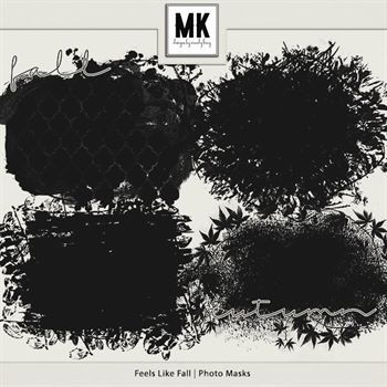 Feels Like Fall - Photo Masks Digital Art - Digital Scrapbooking Kits