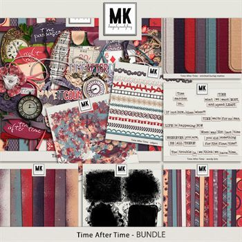 Time After Time - Discounted Bundle Digital Art - Digital Scrapbooking Kits
