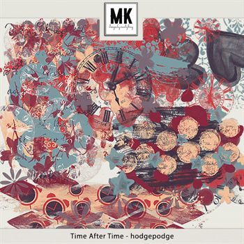 Time After Time - Hodgepodge Digital Art - Digital Scrapbooking Kits