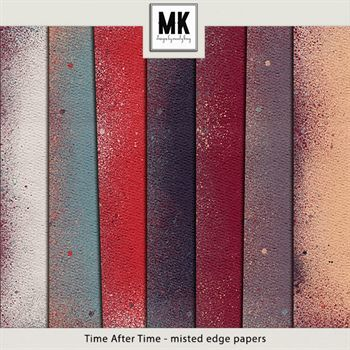 Time After Time - Misted Edge Papers Digital Art - Digital Scrapbooking Kits