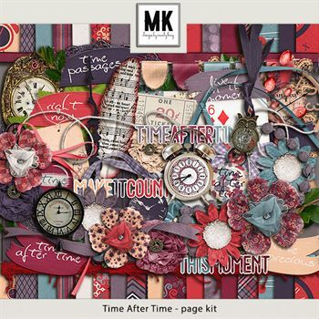 Time After Time - Page Kit Digital Art - Digital Scrapbooking Kits