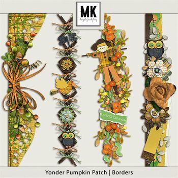 Yonder Pumpkin Patch - Borders Digital Art - Digital Scrapbooking Kits