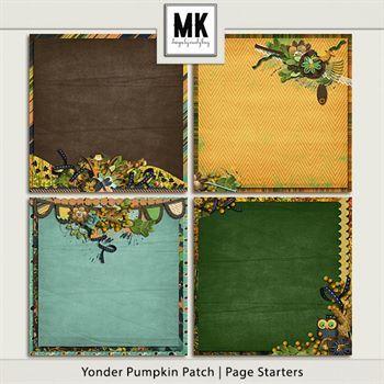 Yonder Pumpkin Patch - Decorated Papers Digital Art - Digital Scrapbooking Kits