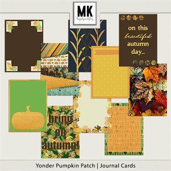 Yonder Pumpkin Patch - Journal Cards Digital Art - Digital Scrapbooking Kits