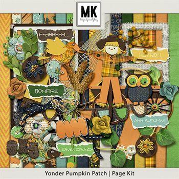 Yonder Pumpkin Patch - Page Kit Digital Art - Digital Scrapbooking Kits