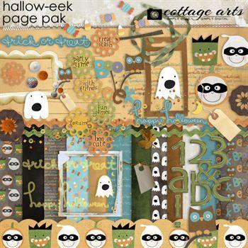 Hallow-eek! Page Pak Walpha Digital Art - Digital Scrapbooking Kits