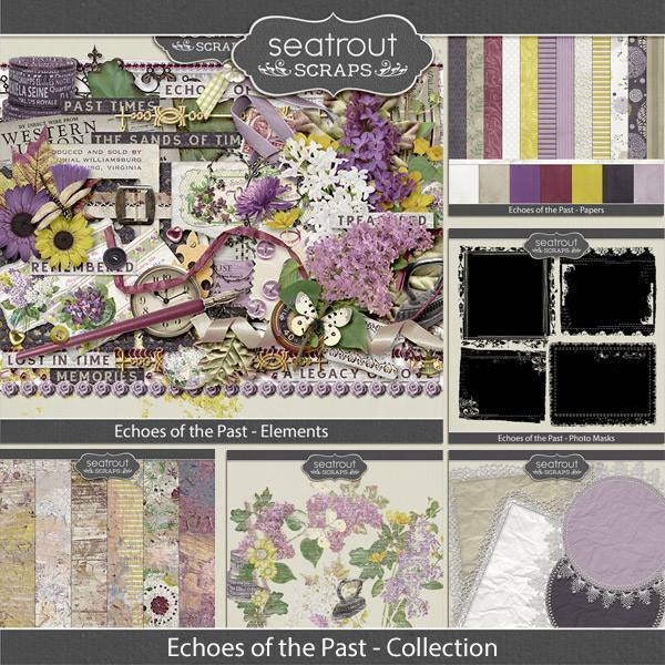 Echoes Of The Past Bundled Collection Digital Art - Digital Scrapbooking Kits