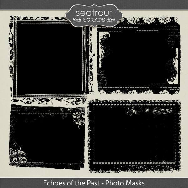 Echoes Of The Past Photo Masks Digital Art - Digital Scrapbooking Kits