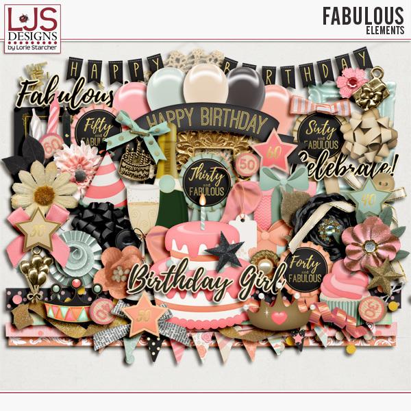 Fabulous - Elements Digital Art - Digital Scrapbooking Kits