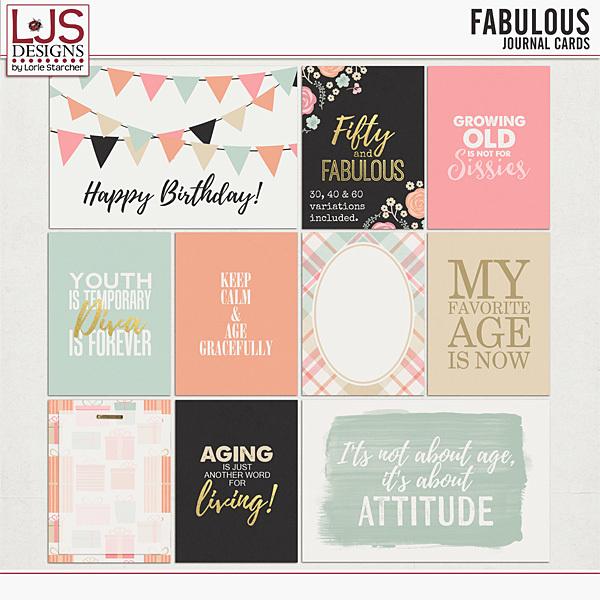 Fabulous - Journal Cards Digital Art - Digital Scrapbooking Kits