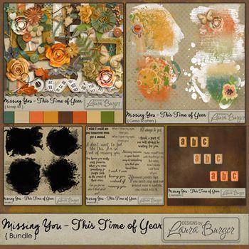 Missing You-this Time Of Year Bundle-fwp Scatter Digital Art - Digital Scrapbooking Kits
