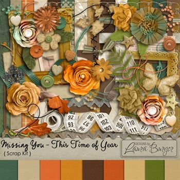 Missing You-this Time Of Year Digital Art - Digital Scrapbooking Kits