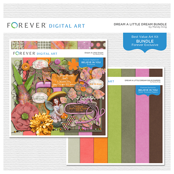 Dream A Little Dream Bundle Digital Art - Digital Scrapbooking Kits