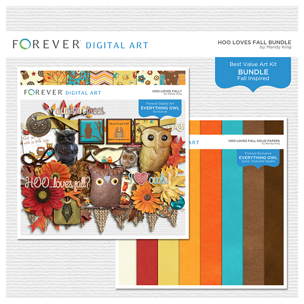 Hoo Loves Fall Bundle Digital Art - Digital Scrapbooking Kits