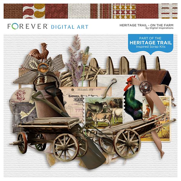 The Heritage Trail - On The Farm Digital Art - Digital Scrapbooking Kits