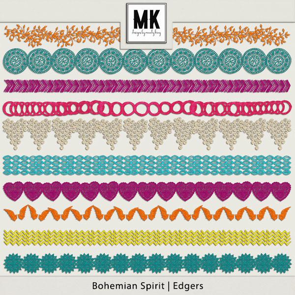 Bohemian Spirit - Edgers Digital Art - Digital Scrapbooking Kits