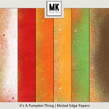 It's A Pumpkin Thing - Misted Edge Papers Digital Art - Digital Scrapbooking Kits