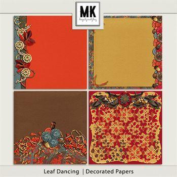 Leaf Dancing - Decorated Papers Digital Art - Digital Scrapbooking Kits