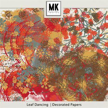 Leaf Dancing - Hodgepodge Digital Art - Digital Scrapbooking Kits