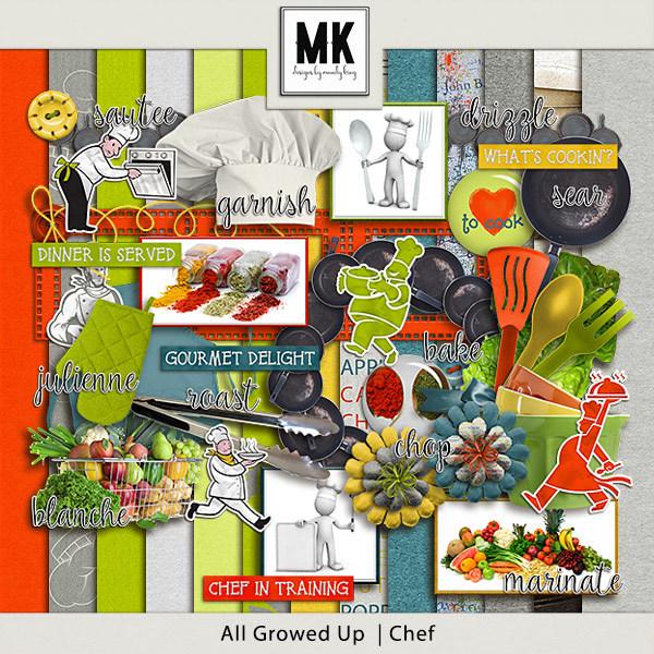 All Growed Up - Chef Digital Art - Digital Scrapbooking Kits