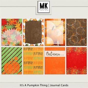 It's A Pumpkin Thing - Journal Cards Digital Art - Digital Scrapbooking Kits
