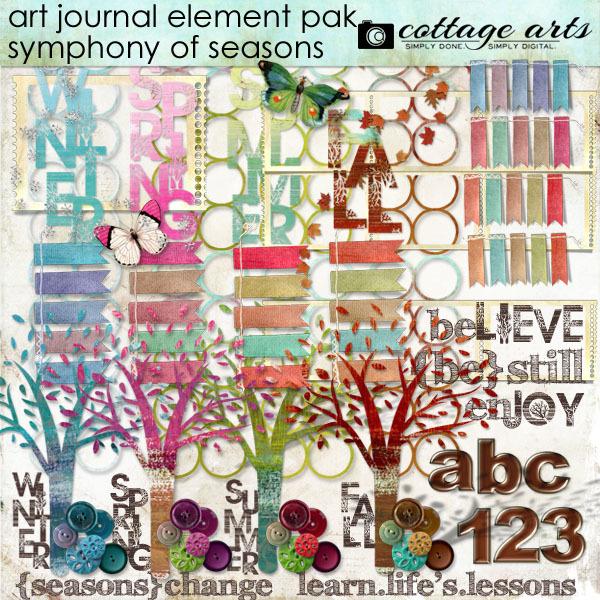 Art Journal – Symphony of Seasons Element Pak Digital Art - Digital Scrapbooking Kits