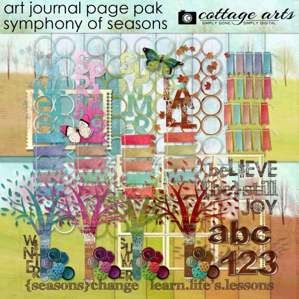 Art Journal – Symphony of Seasons Page Pak Digital Art - Digital Scrapbooking Kits
