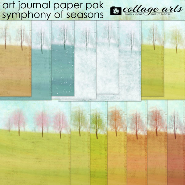 Art Journal – Symphony of Seasons Paper Pak Digital Art - Digital Scrapbooking Kits
