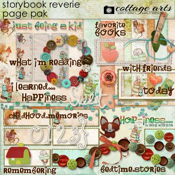 Storybook Reverie Page Pak Digital Art - Digital Scrapbooking Kits