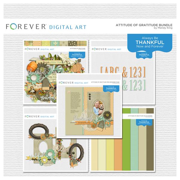 Attitude Of Gratitude Bundle Digital Art - Digital Scrapbooking Kits