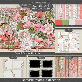 Damask Dreams Discounted Bundle Digital Art - Digital Scrapbooking Kits