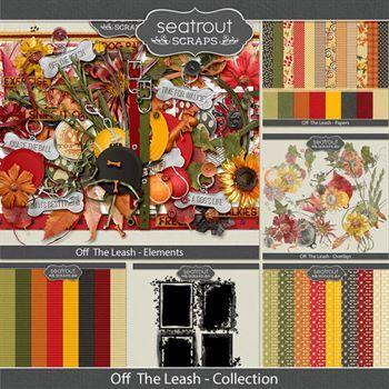 Off The Leash Discounted Bundle Digital Art - Digital Scrapbooking Kits