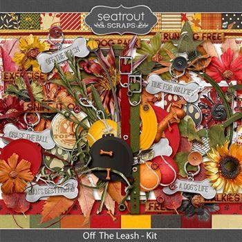 Off The Leash Kit Digital Art - Digital Scrapbooking Kits