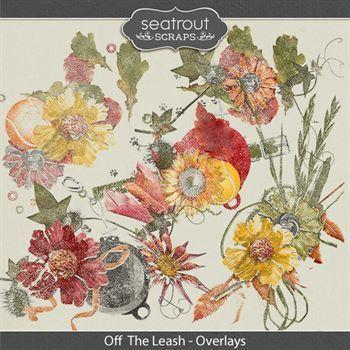 Off The Leash Overlays Digital Art - Digital Scrapbooking Kits