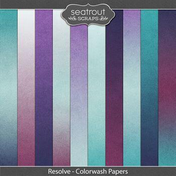 Resolve Colorwash Papers Digital Art - Digital Scrapbooking Kits