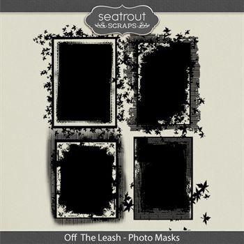 Off The Leash Photo Masks Digital Art - Digital Scrapbooking Kits