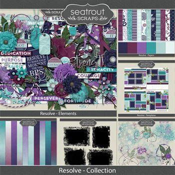 Resolve Discounted Bundle Digital Art - Digital Scrapbooking Kits