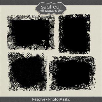 Resolve Photo Masks Digital Art - Digital Scrapbooking Kits
