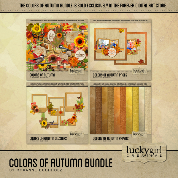 Colors Of Autumn Bundle Digital Art - Digital Scrapbooking Kits