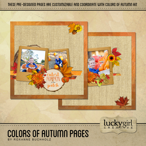 Colors Of Autumn Pages Digital Art - Digital Scrapbooking Kits