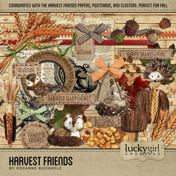 Harvest Friends Digital Art - Digital Scrapbooking Kits