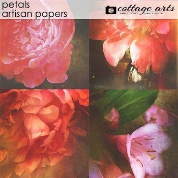 Petals Artisan Papers Digital Art - Digital Scrapbooking Kits